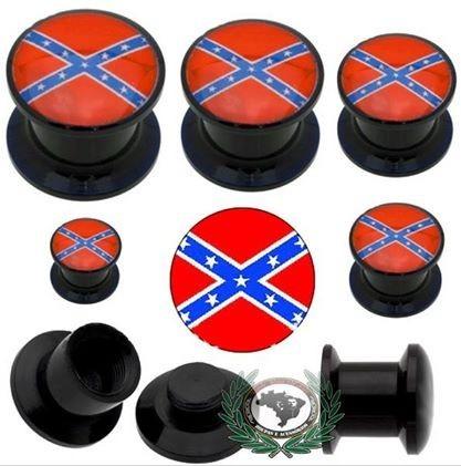 alargador orelha confederados 5mm - par - 2 unidades