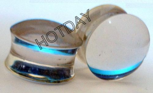 alargador plug transparente 6mm - par