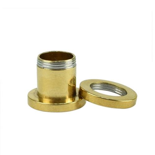 alargador rosca em aço inoxidável - vazado - dourado - par