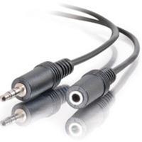alargue de cable de audio c2g estéreo 3.5 mm m/h 3 ft