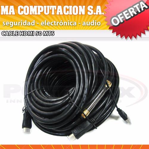 alargue hdmi 50mts cable mallado y doble filtro 1.4 full hd