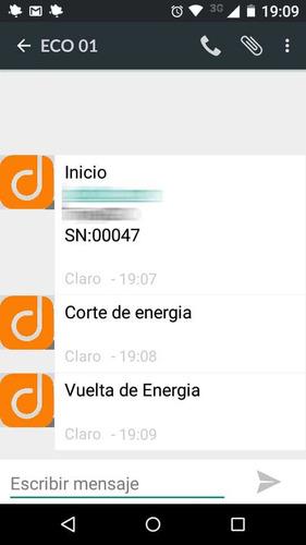 alarma aviso de corte de energia x sms