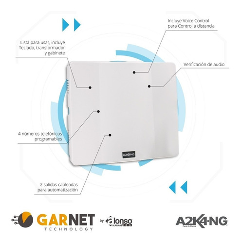 alarma cableada 7 zonas alonso internet wifi bateria