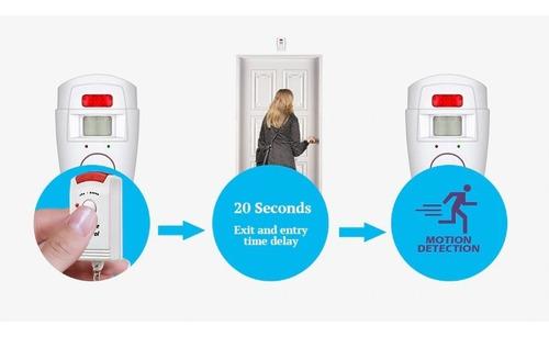 alarma casa infrarrojo 2 control remoto sensor movimiento