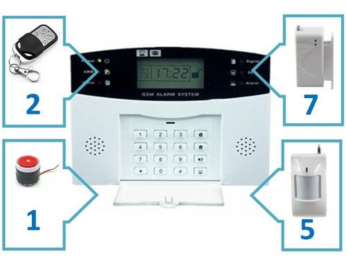 alarma casa negocio inalambrico gsm 12 sensores mag.+mov.