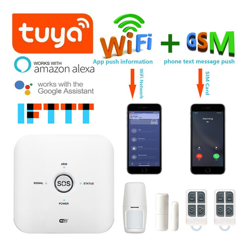 alarma casas, locales inteligente tuya smart 10gdt wifi gsm