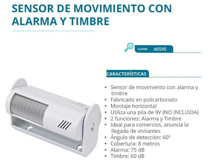 Alarma con sensor de movimiento voltech aun disponible - Alarma de movimiento ...