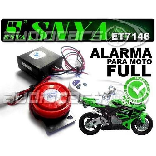 alarma de moto snya control distancia sirena 125db colocado