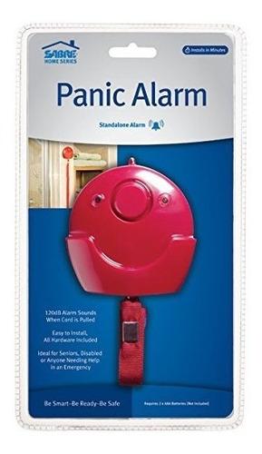 alarma de pánico 120 db sirena y luz led - fácil instalación