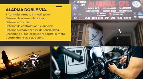 alarma doble via para moto instalada en seguro gps