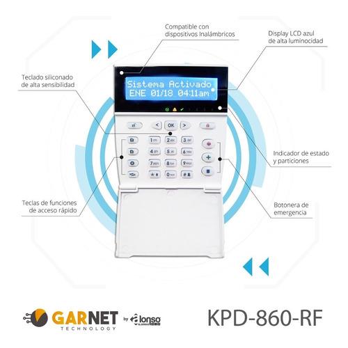 alarma domiciliaria inalámb c teclado alfanumerico- a2k8-rf
