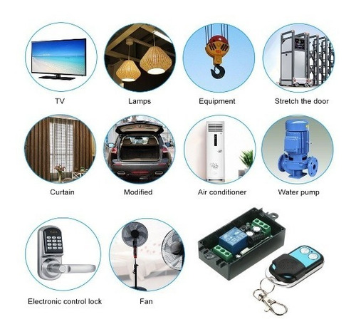 alarma domiciliaria-inalambrica: receptor + dos controles
