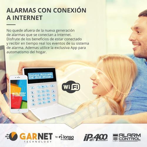 alarma domiciliaria + sensor + sirena + bat + wifi + kit+12c