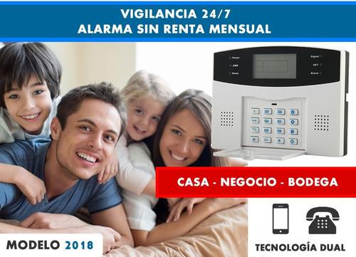 alarma dual inalambrica gsm proteccion seguridad casa 18s