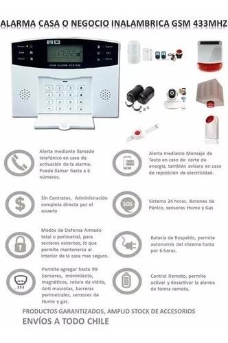 alarma gsm inalambrica casa oficina negocio aviso celular