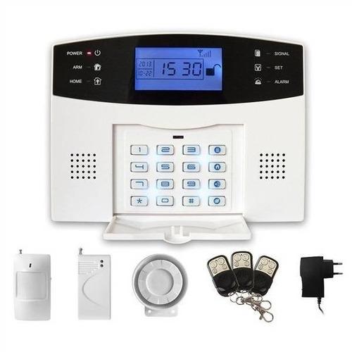 alarma inalambrica gsm chip sistema de seguridad completo