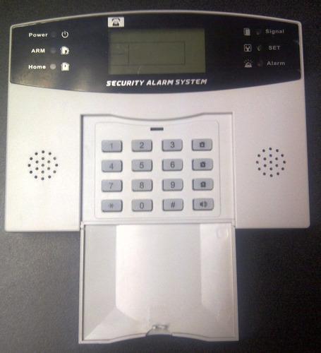 alarma inalámbrica linea fija sin monitoreo con 8 sensores