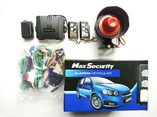 alarma max security z1,2 controles 4 botones, sirena