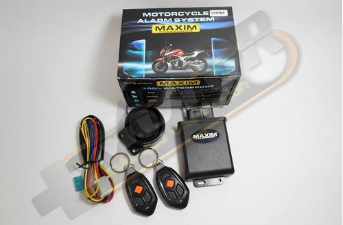 alarma moto con 2 controles deluxe impermeable con sensor