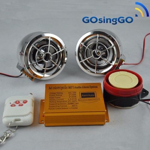 alarma moto radio/usb/sd (habla) liquidación