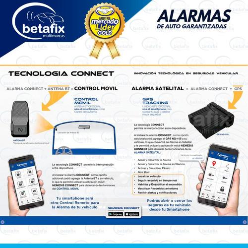 alarma nemesis gold clase a con gps instalada betafix ec