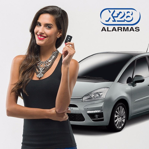 alarma para auto x28 z20rs. volumetrica + presencia + sirena