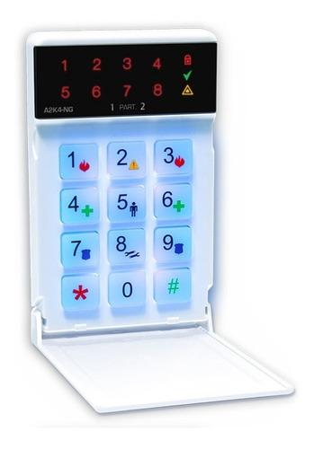 alarma para casa cableada+ a2k4-ng+ teclado led+bat