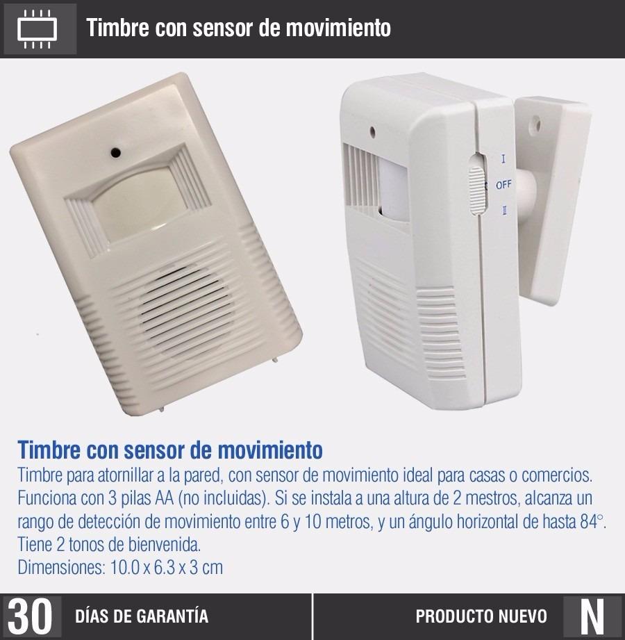 Alarma puerta de comercio sensor de movimiento c 2 tonos - Sensores de movimiento con alarma ...