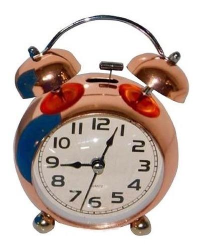 alarma reloj despertador mesa plateado campana ref 670b