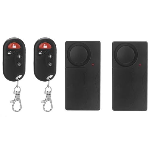 alarma seguridad puerta entrada fk-9806 smart negro