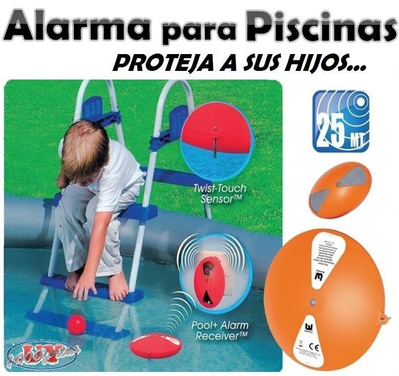 Alarma sonora para piscina o pileta con sensor de for Alarma piscina