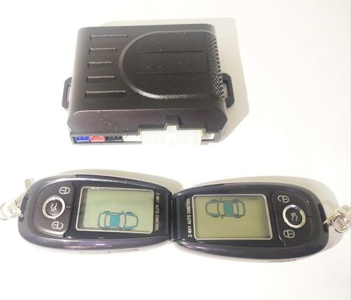 alarma ultra doble via para auto controles lcd recargables