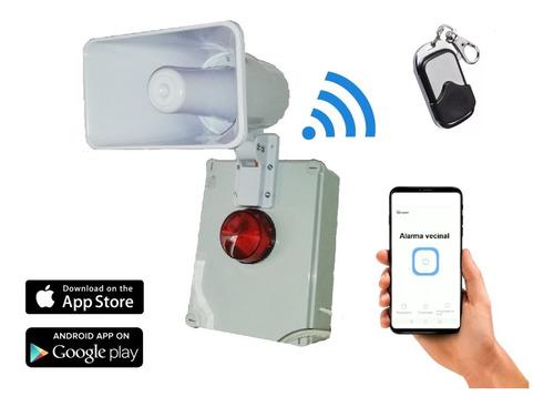 alarma vecinal híbrida, wifi y control remoto rf 433
