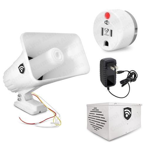 alarma vecinal wifi inalambrico caja proteccion app casa