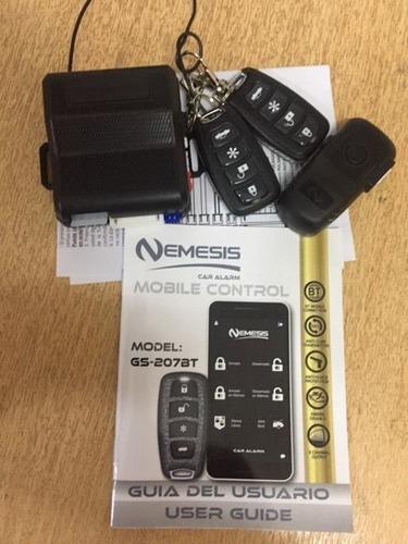 alarma vehiculo con sistema bluetooth control celular