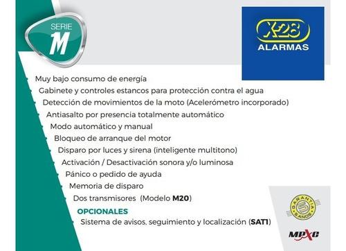alarma x28 moto linea m20 compatible sat1 presencia full 2 controles remotos