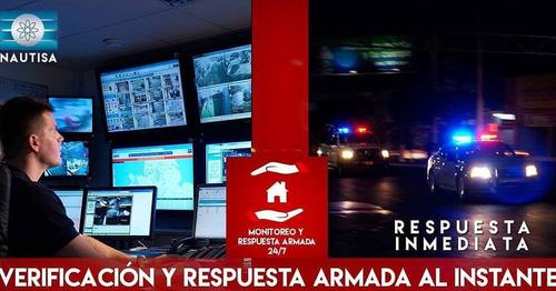 alarma y cctv monitoreo+respuesta armada.