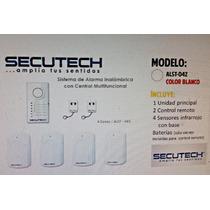 Sistema De Alarma Inalambrica Secutech 4 Zonas + 2 Controles