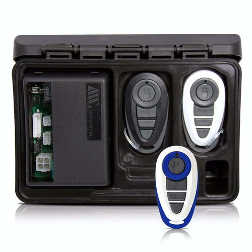 alarme automotivo carro amx-908 + capa branca e azul
