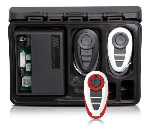 alarme automotivo carro amx-908 + capa branca vermelha
