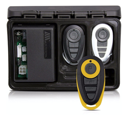 alarme automotivo carro amx-908 + capa preta e amarela
