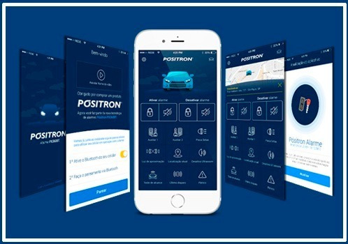 alarme automotivo cyber px360 bt sensor presença pósitron