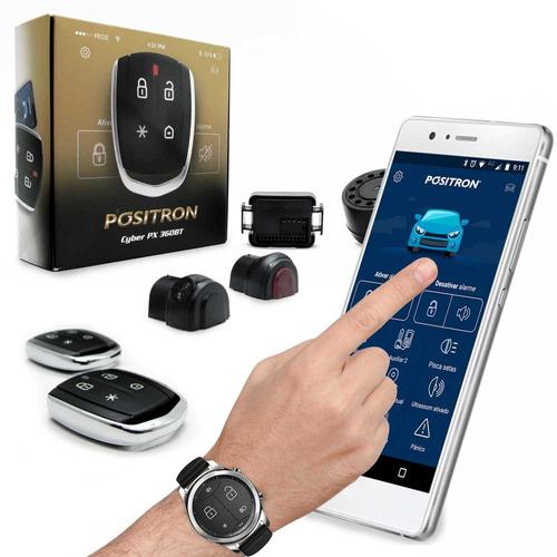 alarme automotivo pósitron cyber px 360bt controle celular