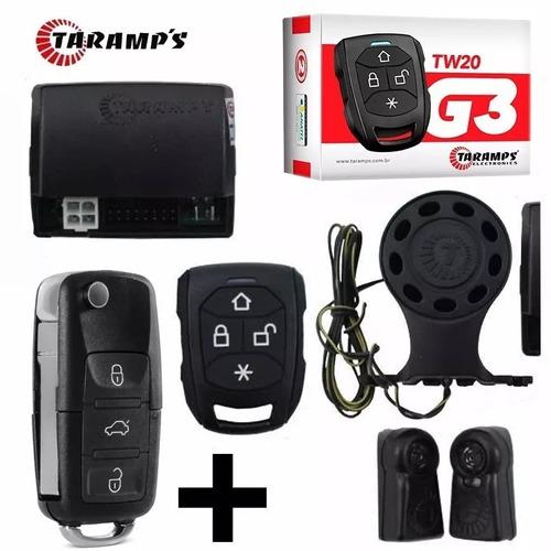 alarme automotivo taramps tw20g3 chave canivete + 1 controle