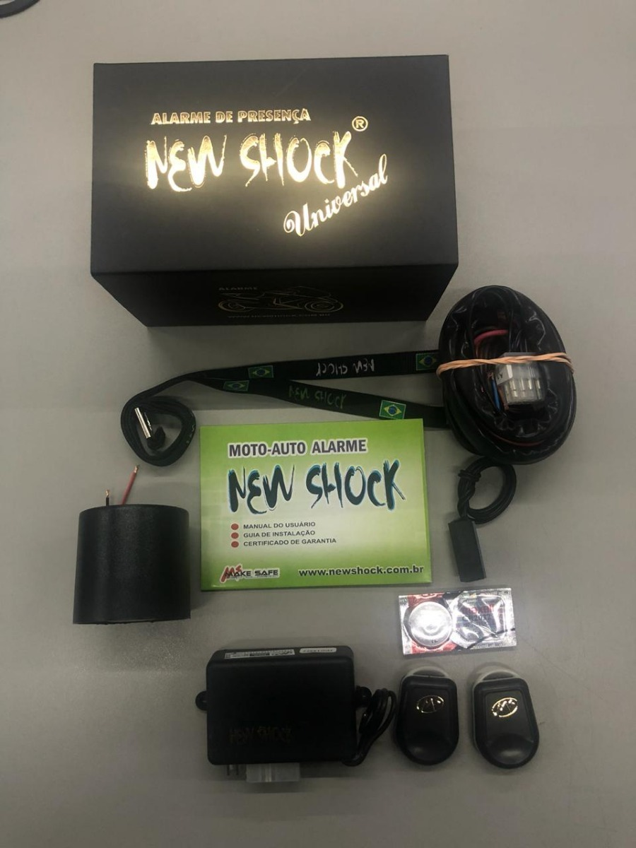 alarme moto new shock é bom