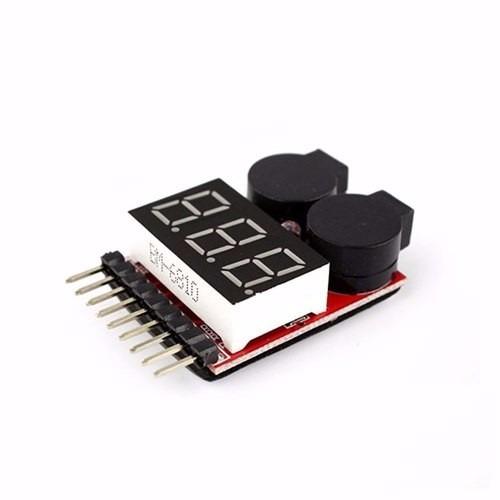alarme e medidor de bateria buzzer lipo 1 a 8s