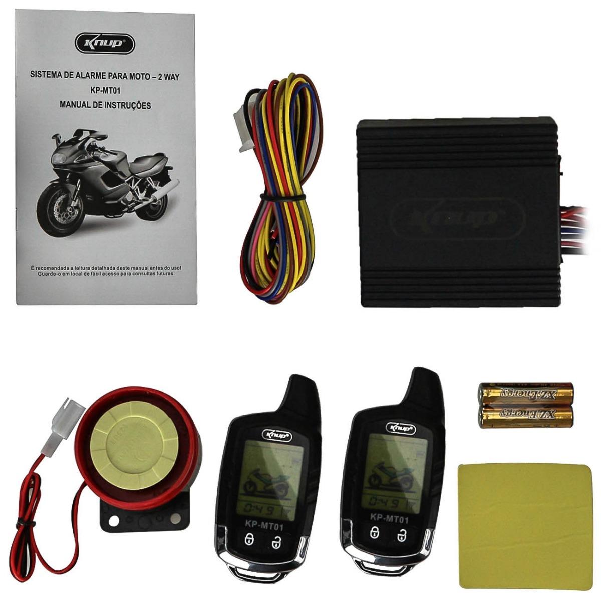 alarme para moto knup mt-01