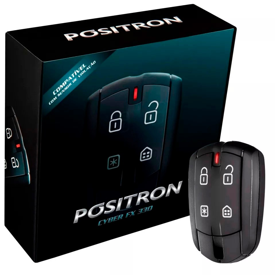 Alarme Positron Automotivo Carro Cyber Fx 330 Desliga Som ...