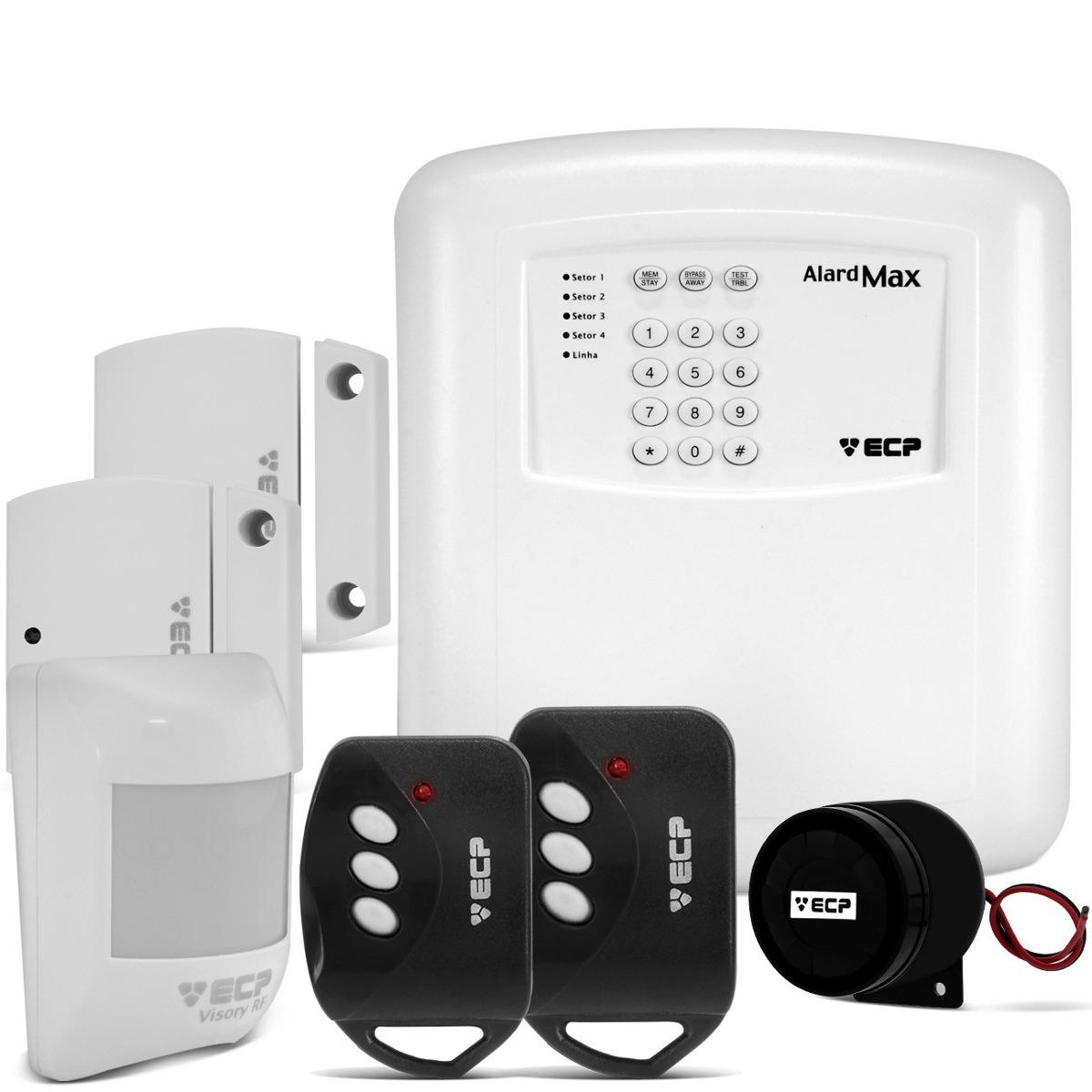 alarme residencial comercial sem fio ecp alardmax 4 zona iso r 189 90 em mercado livre. Black Bedroom Furniture Sets. Home Design Ideas