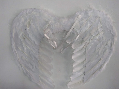 alas angel blanco pluma disfraz niño niña